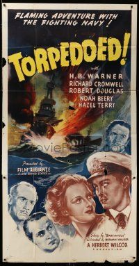6w678 TORPEDOED 3sh '37 H.B. Warner, Richard Cromwell, flaming adventure with the fighting Navy!
