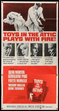 6w680 TOYS IN THE ATTIC 3sh '63 Yvette Mimieux, Dean Martin, Geraldine Page, it plays with fire!