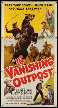 6w686 VANISHING OUTPOST 3sh '51 rats take cover when Lash LaRue & Fuzzy St. John take over!