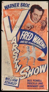 6w687 VARSITY SHOW 3sh R42 Fred Waring and His Pennsylvanians, Priscilla & Rosemary Lane!