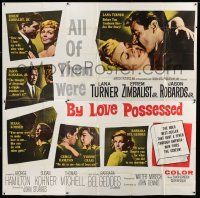 6w136 BY LOVE POSSESSED 6sh '61 sexy Lana Turner, Efrem Zimbalist Jr., directed by John Sturges!