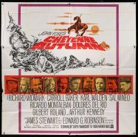 6w139 CHEYENNE AUTUMN 6sh '64 directed by John Ford, portraits ot top stars + cool Rehberger art!