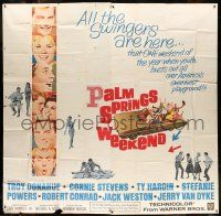 6w194 PALM SPRINGS WEEKEND 6sh '63 Troy Donahue, Connie Stevens, teen swingers in California!