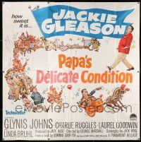 6w195 PAPA'S DELICATE CONDITION 6sh '63 Jackie Gleason, how sweet it is, artwork by Frank Frazetta!