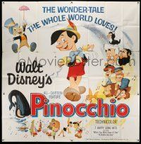 6w198 PINOCCHIO 6sh R62 Disney classic fantasy cartoon about a wooden boy who wants to be real!