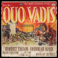 6w201 QUO VADIS 6sh '51 art of Robert Taylor, sexy Deborah Kerr & Ustinov in Ancient Rome!
