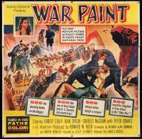 6w228 WAR PAINT 6sh '53 filmed in Death Valley National Park, really cool montage artwork!
