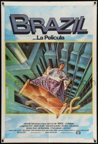 6w264 BRAZIL Argentinean '85 Terry Gilliam, cool sci-fi fantasy art by Lagarrigue!