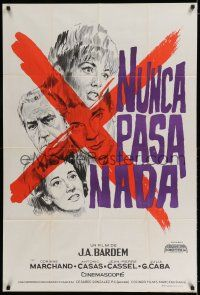 6w348 NOTHING EVER HAPPENS Argentinean '63 Juan Antonio Bardem, different art of Corinne Marchand!