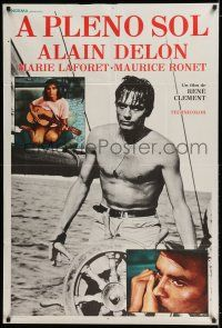 6w362 PURPLE NOON Argentinean R70s Rene Clement's Plein soleil, barechested Alain Delon on ship!