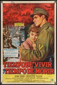 6w387 TIME TO LOVE & A TIME TO DIE Argentinean '58 great love story of WWII by Erich Maria Remarque!