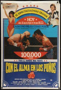 6w389 TOUGH ENOUGH Argentinean '83 different image of Dennis Quaid in the boxing ring!