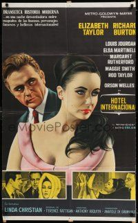 6w393 V.I.P.S Argentinean '63 great close up art of sexy Elizabeth Taylor & Richard Burton!