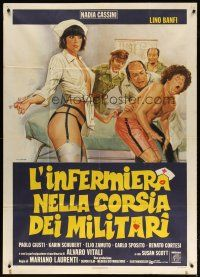 6w898 NURSE IN THE MILITARY MADHOUSE Italian 1p '79 wild Tarantelli art of sexy nurse w/ syringe!