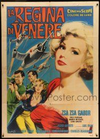 6w918 QUEEN OF OUTER SPACE Italian 1p '58 great different Arnaldo Putzu art of sexy Zsa Zsa Gabor!