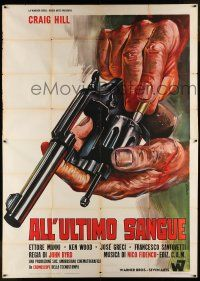 6w033 BURY THEM DEEP Italian 2p '68 All'ultimo sangue, cool reloading gun art by P. Franco!