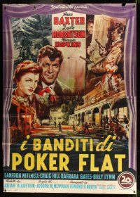 6w088 OUTCASTS OF POKER FLAT Italian 2p '52 different art of Baxter & Robertson by De Amicis!