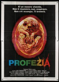 6w095 PROPHECY Italian 2p '79 John Frankenheimer, art monster in embryo by Lehr, she lives!