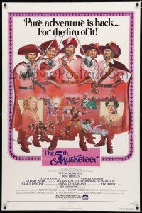 7b005 5th MUSKETEER 1sh '79 great art of Sylvia Kristel, Lloyd Bridges & others by C.W. Taylor!