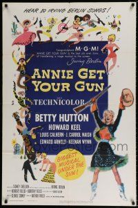 7b038 ANNIE GET YOUR GUN 1sh R56 Betty Hutton as the greatest sharpshooter, Howard Keel