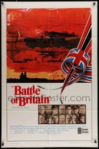 7b076 BATTLE OF BRITAIN style A 1sh '69 all-star cast in classic World War II battle!