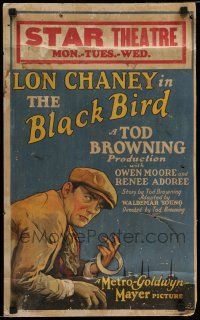 7c113 BLACKBIRD WC '26 art of thief/mission owner Lon Chaney, written & directed by Tod Browning!