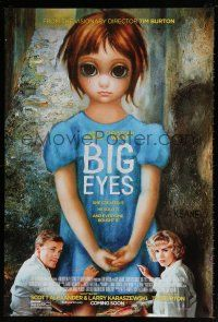 7g089 BIG EYES advance DS 1sh '14 cool image of Amy Adams and Cristoph Waltz painting together!