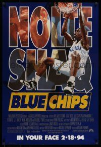 7g099 BLUE CHIPS advance 1sh '94 basketball, Nick Nolte, Ed O'Neal & Shaquille O'Neal!