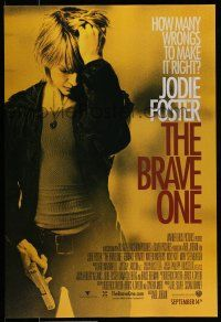 7g107 BRAVE ONE advance DS 1sh '07 Neil Jordan directed, Jodie Foster & Terrence Howard!