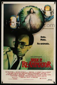 7g108 BRIDE OF RE-ANIMATOR 1sh '90 H.P. Lovecraft horror, in a comic way, great image!