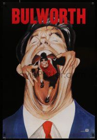 7g111 BULWORTH style A teaser 1sh '98 Warren Beatty, Halle Berry, Oliver Platt, Don Cheadle