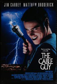 7g113 CABLE GUY DS 1sh '96 Jim Carrey, Matthew Broderick, directed by Ben Stiller!