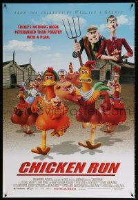 7g129 CHICKEN RUN DS 1sh '00 Peter Lord & Nick Park claymation, poultry with a plan!
