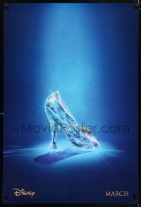 7g134 CINDERELLA teaser DS 1sh '15 great image of classic glass slipper!