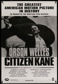 7g136 CITIZEN KANE 1sh R98 some called Orson Welles a hero, others called him a heel!