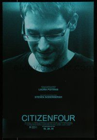 7g137 CITIZENFOUR advance DS 1sh '14 Laura Poitras documentary, close up of Edward Snowden!