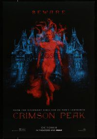 7g155 CRIMSON PEAK teaser DS 1sh '15 Guillermo del Toro horror, cool ghostly Mia Wasikowska!