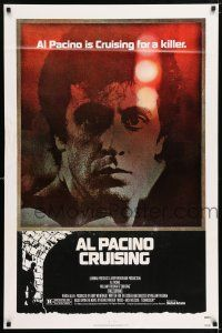 7g159 CRUISING 1sh '80 William Friedkin, undercover cop Al Pacino pretends to be gay!
