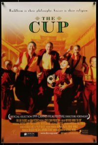 7g160 CUP 1sh '00 great image of happy Buddhist monks playing soccer!