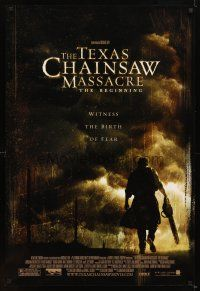 7g743 TEXAS CHAINSAW MASSACRE THE BEGINNING DS 1sh '06 horror prequel, the birth of fear!
