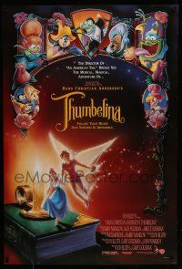 7g758 THUMBELINA DS 1sh '94 Don Bluth animation, cartoon images of fantasy characters!