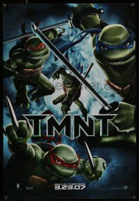7g766 TMNT advance DS 1sh '07 Teenage Mutant Ninja Turtles, cool image of cast with weapons!