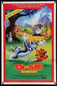 7g767 TOM & JERRY THE MOVIE 1sh '92 famous cartoon cat & mouse in their first motion picture!