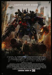 7g782 TRANSFORMERS: DARK OF THE MOON coming soon style advance DS 1sh '11 directed by Michael Bay!
