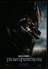 7g780 TRANSFORMERS teaser DS 1sh '07 Michael Bay directed, sexy Megan Fox, Megatron destroy!