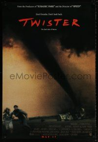 7g799 TWISTER int'l advance DS 1sh '96 storm chasers Bill Paxton & Helen Hunt & image of tornado!