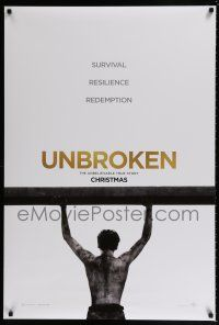 7g802 UNBROKEN man style teaser DS 1sh '14 Jack O'Connell, Survival. Resilience. Redemption!