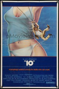 7h013 '10' 1sh '79 Blake Edwards, artwork of Dudley Moore & sexy Bo Derek!