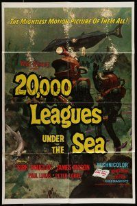 7h015 20,000 LEAGUES UNDER THE SEA 1sh R71 Jules Verne classic, wonderful art of deep sea divers!