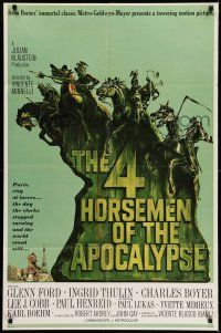 7h020 4 HORSEMEN OF THE APOCALYPSE style B 1sh '61 different art by Joseph Smith!